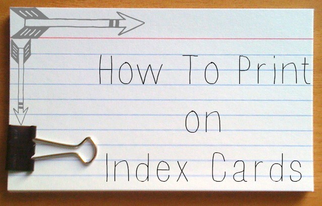Did You Know That Can Print On Your Index Cards