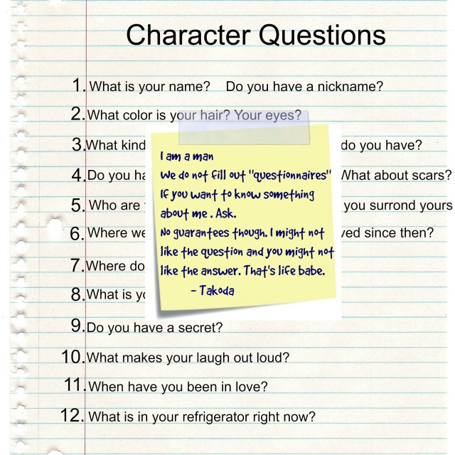 Takodas Questionnaire