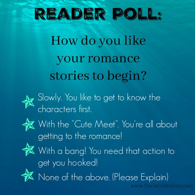 Reader Poll On How To Being A Romance Story